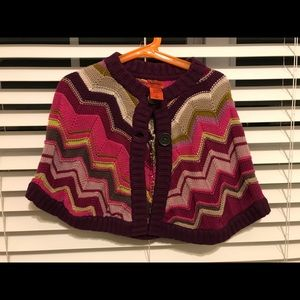 Other - Missoni for target girl sweater poncho -S NWOT